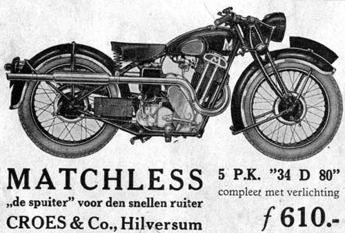 Matchless 5pk 1934 croes
