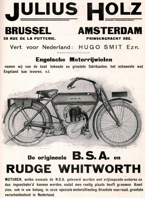 bsa rudge 1912 hugo smit