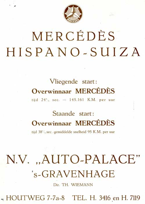 mercedes hispano 19210805 auto palace