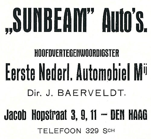 sunbeam 1915 1916 enam